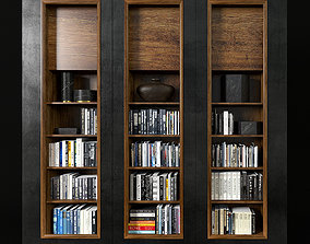 porcelain Modern bookcase 3D model