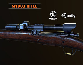 3D model Springfield M1903 Sniper rifle with M84 scope PBR