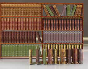 Books and shelf 3D asset