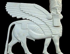 3D Assyrian bas relief sculpture centaur