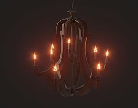3D PBR Loft Chandelier extravagant