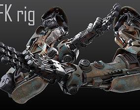 3D model Hand mechanical 04