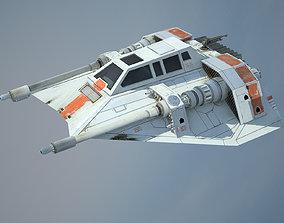 3D asset Game Ready Star Wars T-47 Airspeeder -