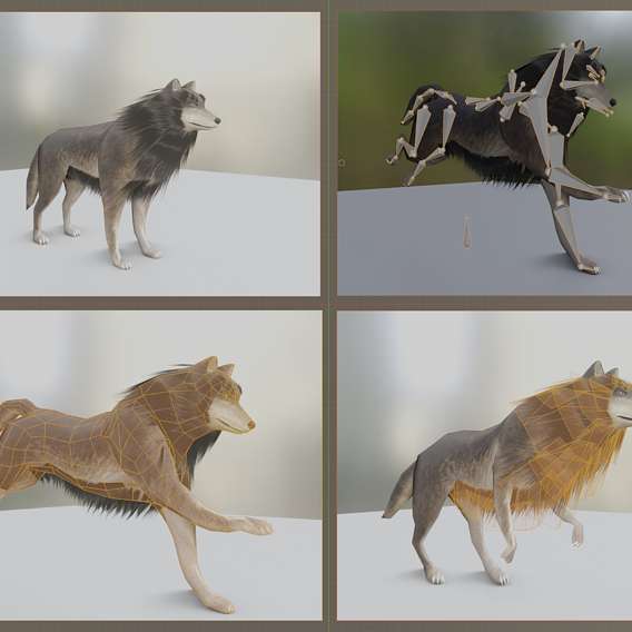 Wolf update for use in Blender 2.9