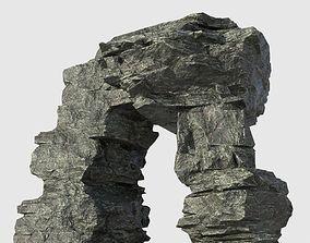 Low poly Beach Cliff Rock 09 3D model