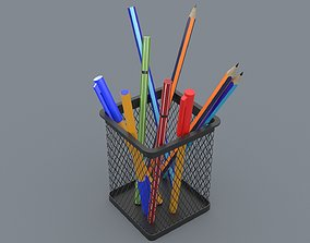 Office Pencil Cup 3D asset
