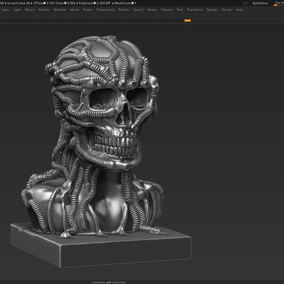 Skull 3d print model 100