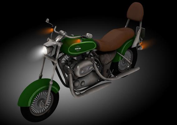 Classic Harley Davidson motorcycle