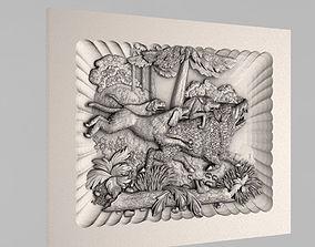 basrelief Carved panels 3D printable model