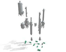 Process Plant UAE - Equipment 3D print model