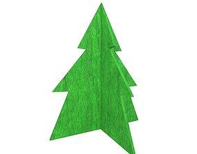 3D asset Wooden Christmas Trees v1 006