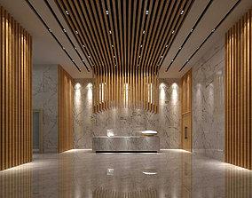 3D model Office meeting room reception hall 20