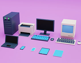 3D asset Computers and Electronics and Office Equipment 2
