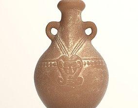 3D model Egyptian ceramic pot