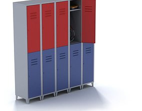 Metal Compact Sports Locker 3D model