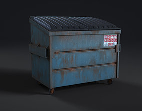 Rusty Dumpster - High Quality 8k Textures 3D model
