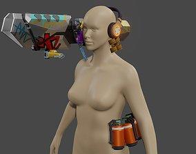 Valorant raze bazooka cosplay kit for 3d