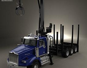 3D model Western Star 4900 Logging Truck 2008