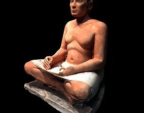 3D scanned The Seated Scribe at the Louvre Museum