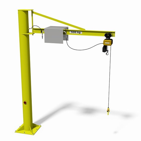 Slewing jib (post) crane
