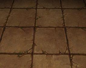 3D ground stone grass tile 2