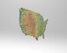 3D model Map of the USA
