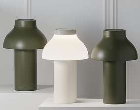 3D HAY PC PORTABLE LAMP - OLIVE GREEN and White