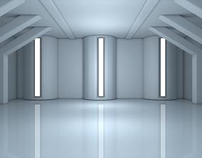 3D model VR / AR ready Sci Fi Room
