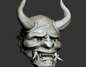 3D printable model Traditional Japanese Hannya Mask 4