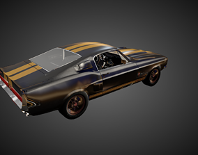 3D model 1967 Shelby Ford Mustang