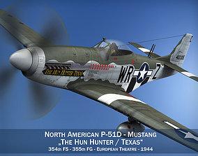 3D model North American P-51D - The Hun Hunter Texas