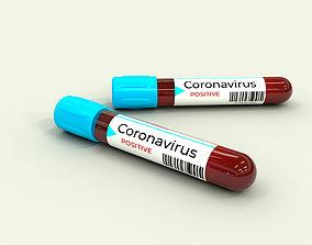 3D model Blood Tube Coronavirus