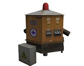 3D model Russian airport Ground Power Unit SK-100