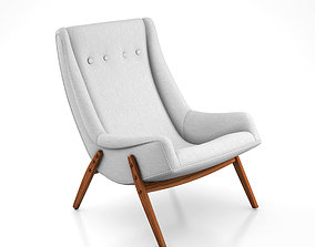 Milo Baughman Scoop Lounge Chair 3D model