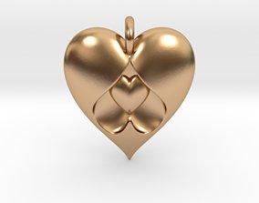 pendant 3D printable model Heart Pendant
