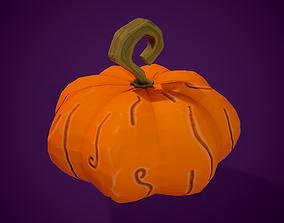 3D Stylized Pumpkin spooky