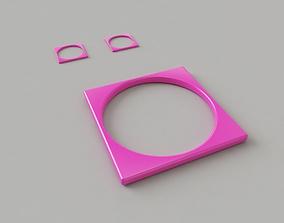 Bangle-Earrings 3D print model