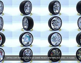 ORTAS CAR RIM 16-17-18-19-20 GAME READY RIM 3D model 2
