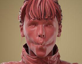 Facial Expression 0-19 Pucker Lips 3D model