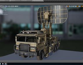 Rigged mobile Radar Truck 3D asset