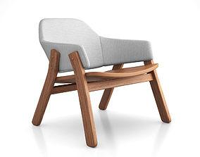 resting 3D Clutch Lounge Chair by Blu Dot