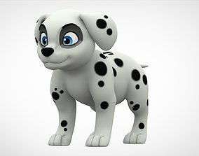 Dalmatian Puppy 3D model game-ready