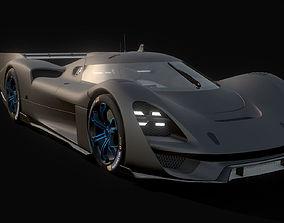 Porsche 908-4 Concept 3D asset