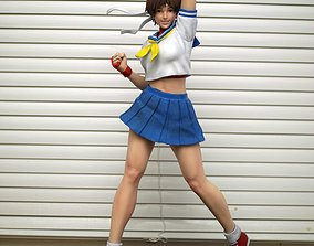Sakura Kasugano Street Fighter Fan Art Statue 3d