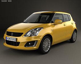 3D Suzuki Swift hatchback 5-door 2014
