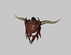 low poly barbarian helmet 3D model