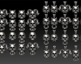 Big skull Ring and Pendant -48 3D model
