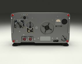 Old Military Radio 3D model
