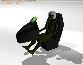 3D model Fighter pilot