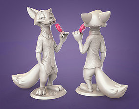 3D print model Nick Wilde from Zootopia Fanart